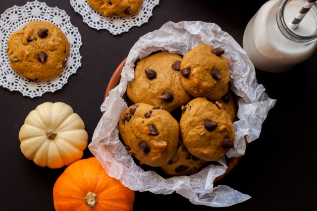 galletas de calabaza con chispas de chocolate