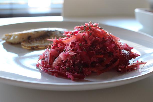 Ensalada de Quinoa y Betabel